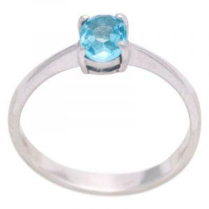 Stříbrný prsten Sky Blue topaz Ag 2,1 g