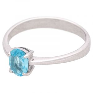 Stříbrný prsten s Sky Blue topazem Ag 2,1 g
