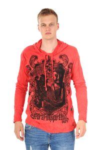 Pánská mikina Sure s kapucí Buddha inspiration červená