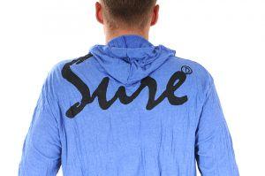 Pánská mikina Sure s kapucí Slon modrá - M