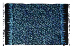 Šátek sarong Disco černo-modrý