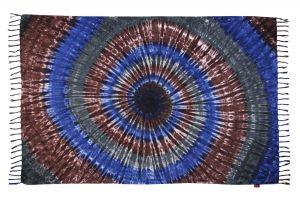 Plážový šátek sarong, pareo Spirála půlnoční