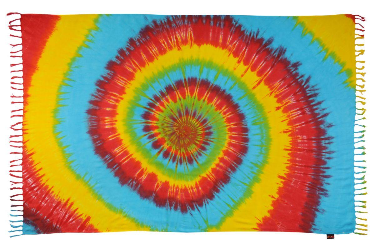 Plážový šátek sarong, pareo Spirála jarní