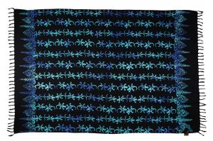 Šátek sarong Gekon černo-modrý