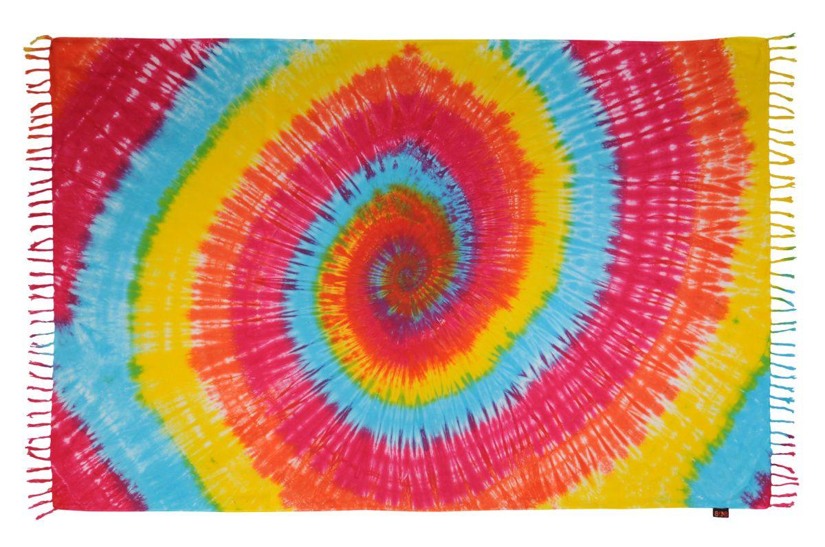 Plážový šátek sarong, pareo Spirála podzimní