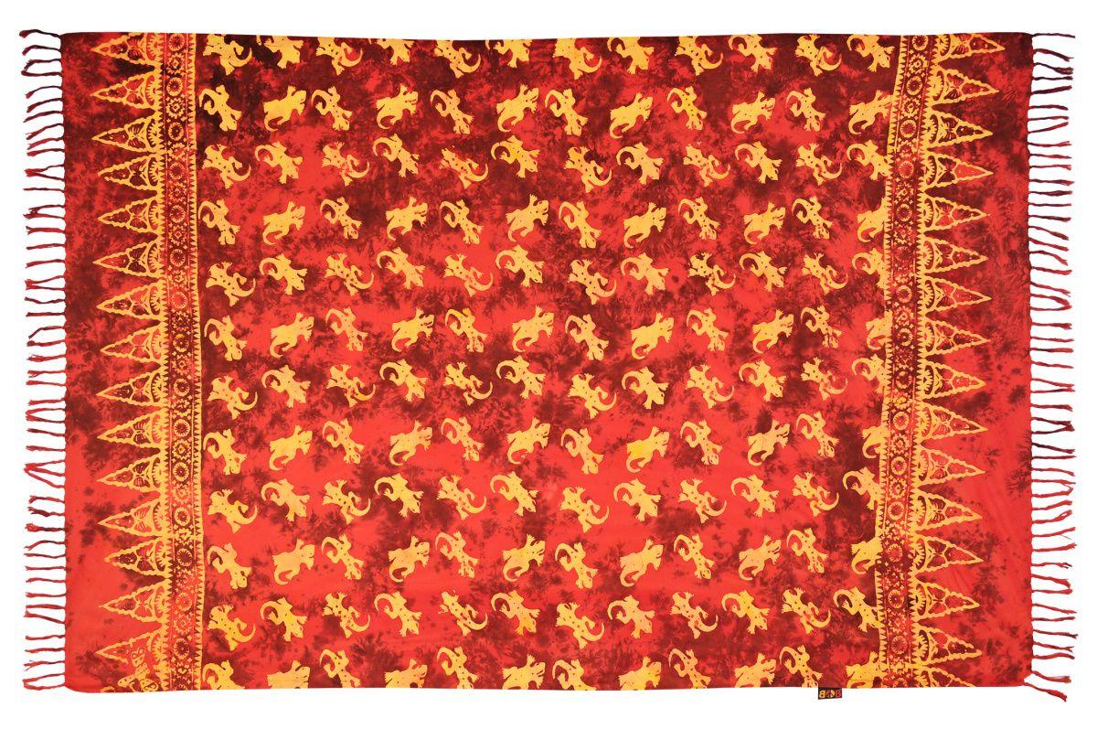 Sarong batikovaný, pareo BOB Batik, Gekon červený | SoNo spol. s r.o.
