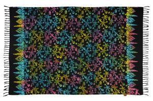 Šátek sarong Moře černo-duhový