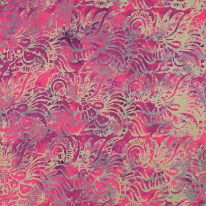 Plážový šátek sarong, pareo Džungle fuchsiový