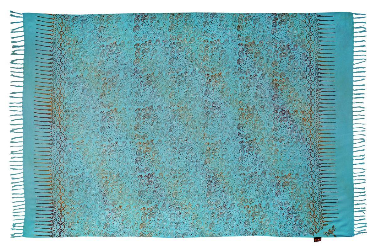 Plážový šátek sarong, pareo Kolibřík tyrkysový