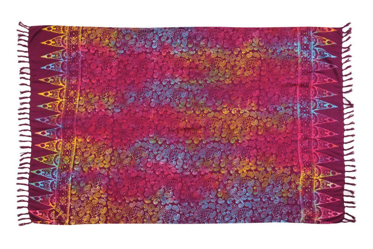 Plážový šátek sarong, pareo Kolibřík fialový