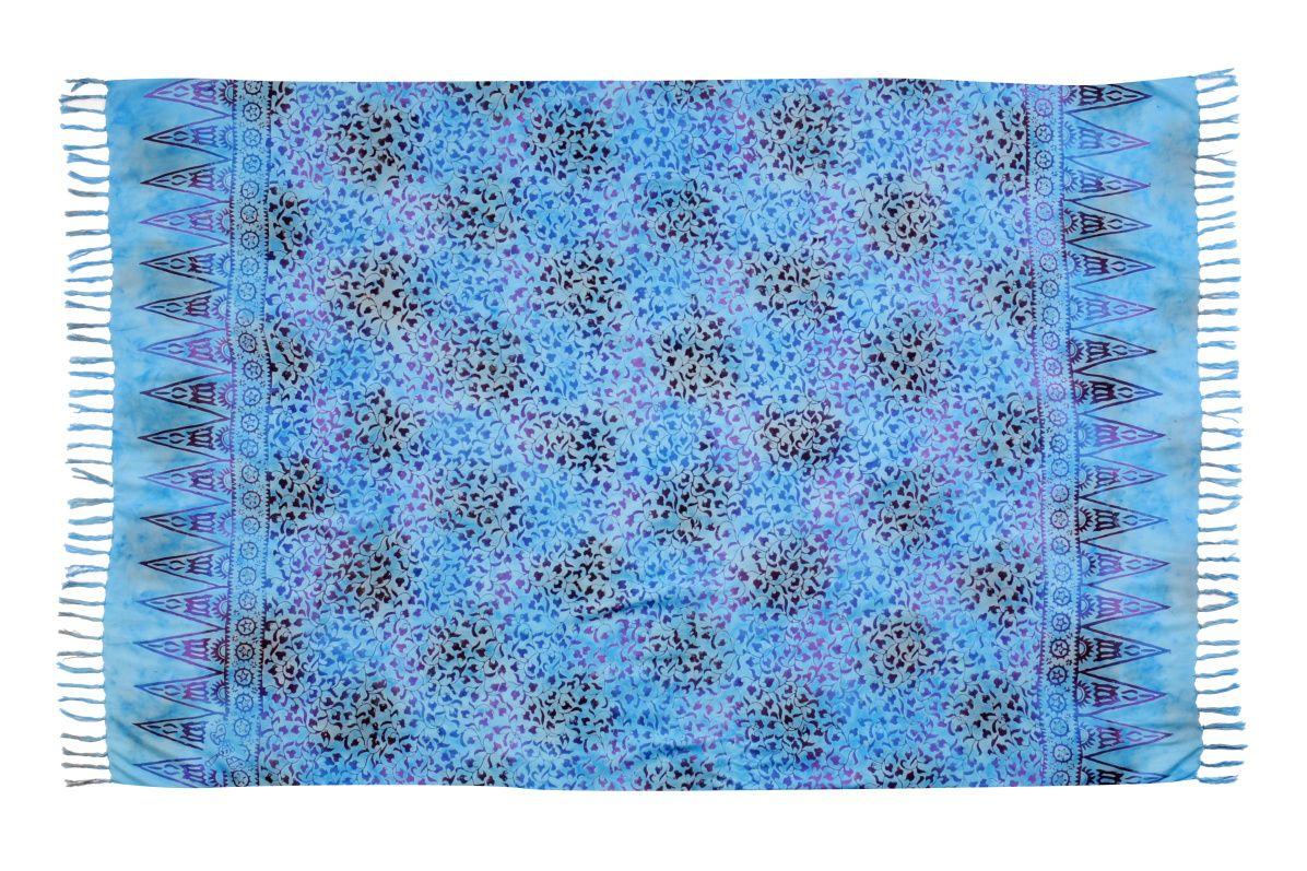 Plážový šátek sarong, pareo Liány tyrkysový