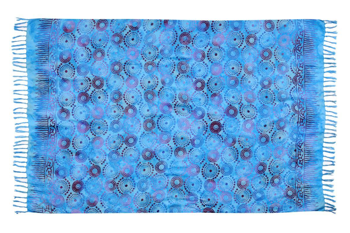 Plážový šátek sarong, pareo Louka azurový