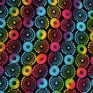 Plážový šátek sarong, pareo Louka černo-duhový