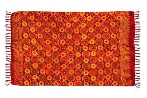 Plážový šátek sarong, pareo Louka červený