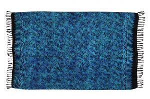 Plážový šátek sarong, pareo Tajfun černo-modrý