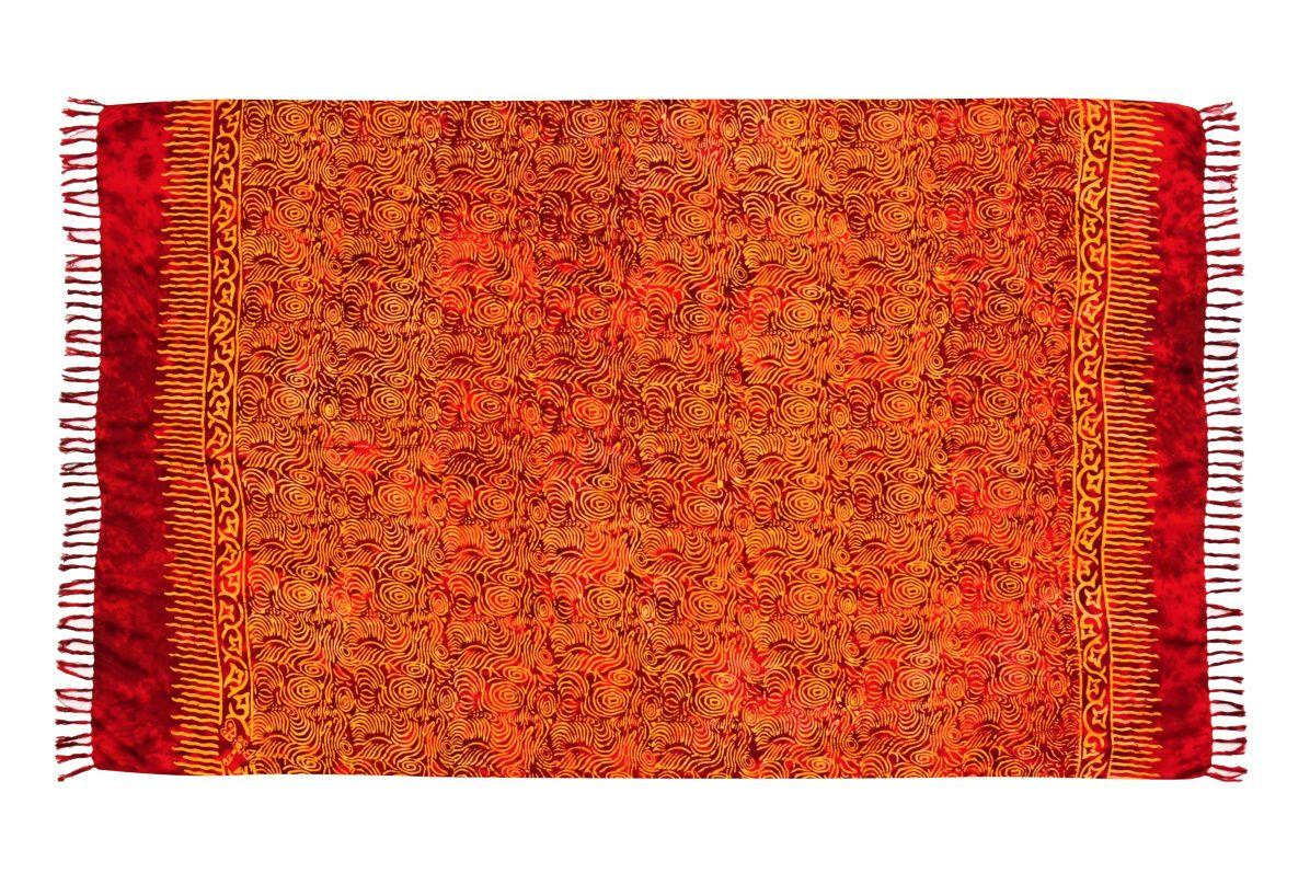 Plážový šátek sarong, pareo Tajfun červený