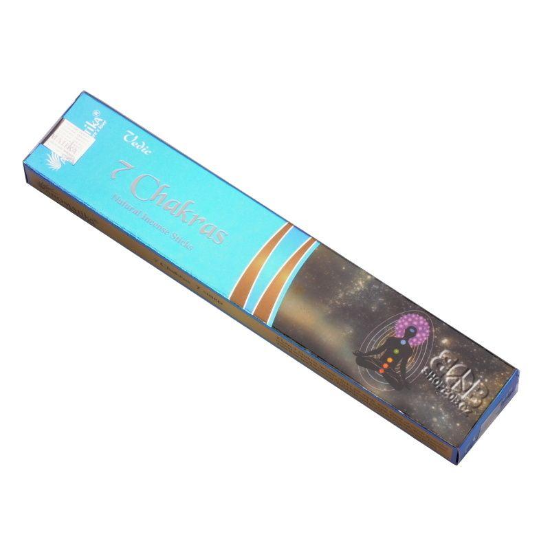 Aromatika Vedic 7 Chakras - 7 čaker indické vonné tyčinky 18 ks