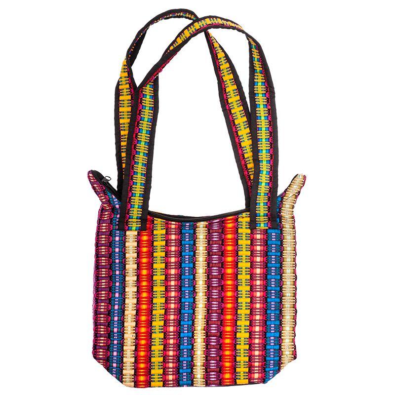 Bavlněná taška tkaná barevná 28 x 24 cm A | SoNo spol. s r.o.