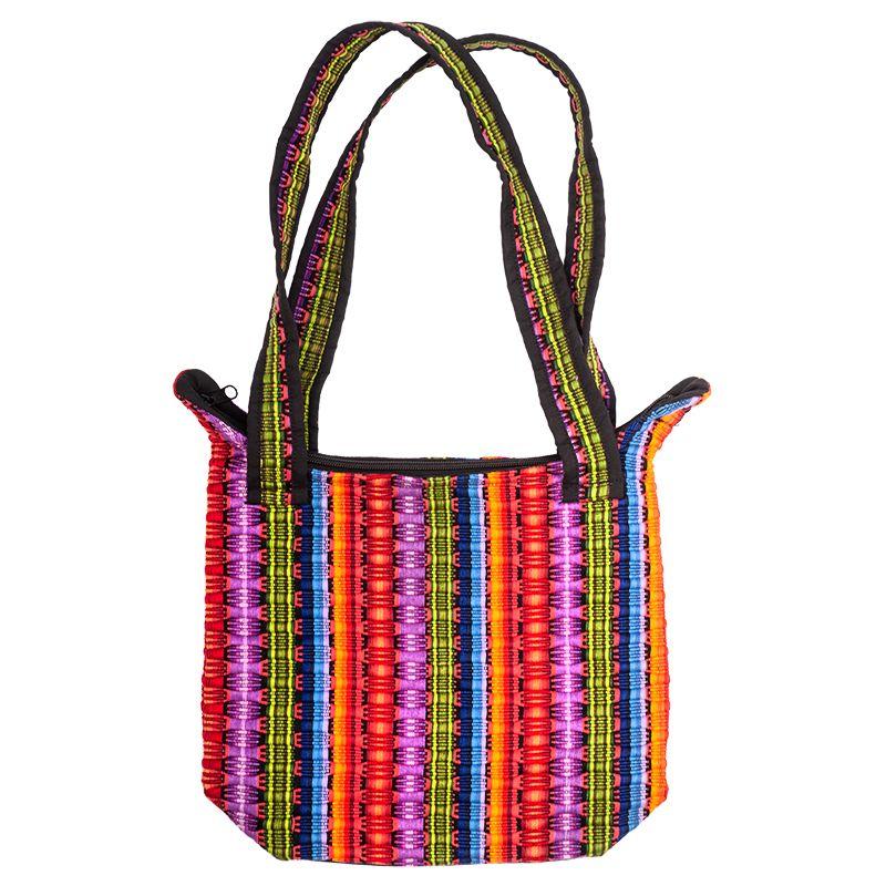 Bavlněná taška tkaná barevná 28 x 24 cm C | SoNo spol. s r.o.