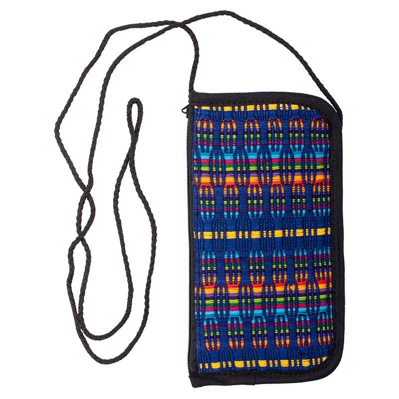 Bavlněná kapsa na krk tkaná, pouzdro na mobil 18 x 10 cm D
