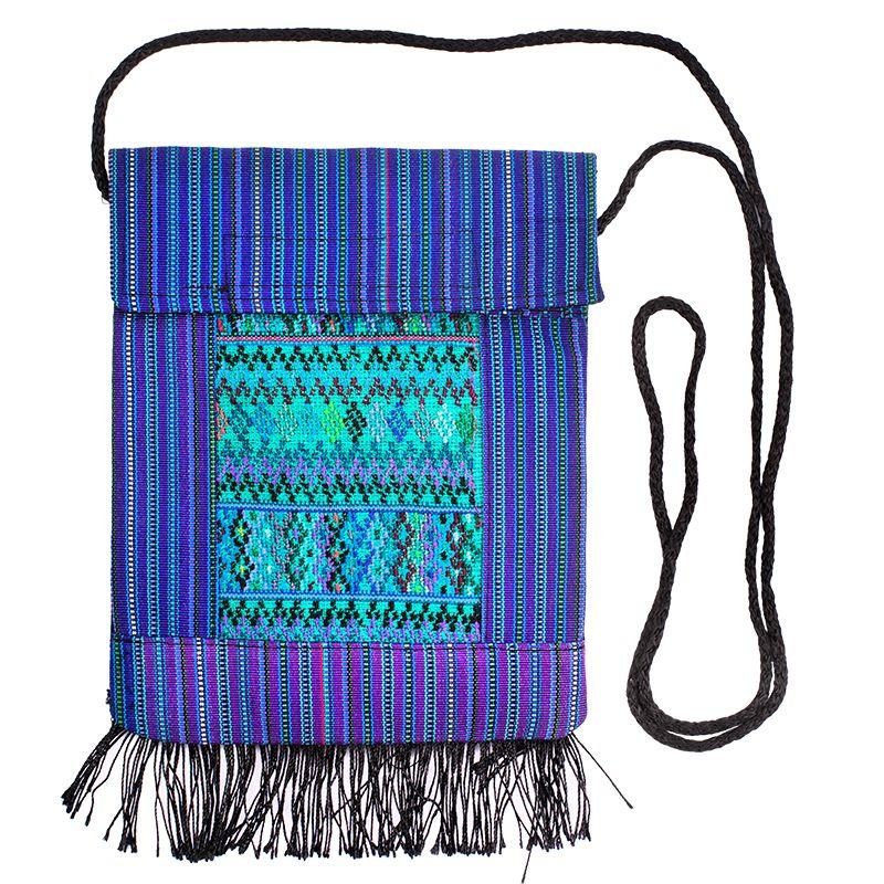 Bavlněná kapsa na krk vyšívaná tkaná 16 x 20 cm B