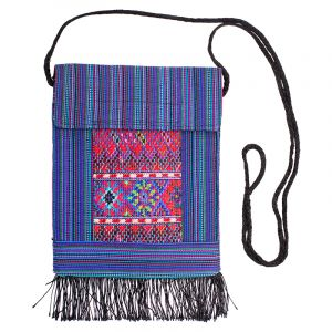 Kapsa na krk vyšívaná tkaná 16 x 20 cm D