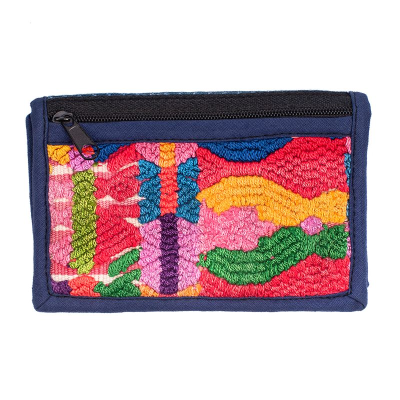 Bavlněná peněženka vyšívaná 12 x 8 cm C | SoNo spol. s r.o.