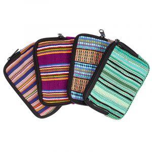 Bavlněná peněženka vyšívaná tkaná 13 x 10 cm D