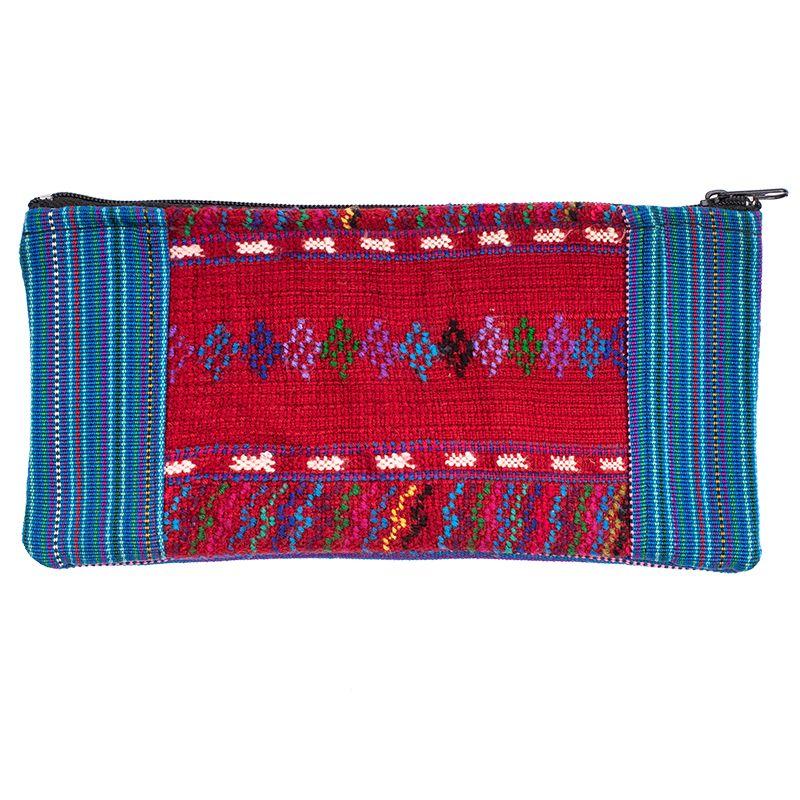 Bavlněné pouzdro na drobnosti vyšívané tkané 20 x 10 cm B