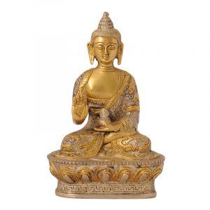 Soška Buddha kov 18 cm