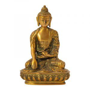 Soška Buddha kov 15 cm