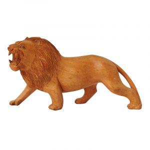 Soška Lev dřevo 29 cm