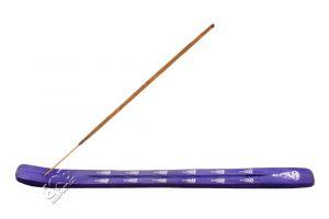 Stojánek na vonné tyčinky - lyže Color Buddha fialový