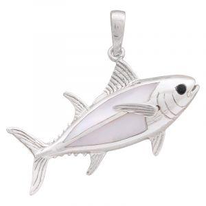 Stříbrný přívěsek perleť Ag 6,4 g ryba