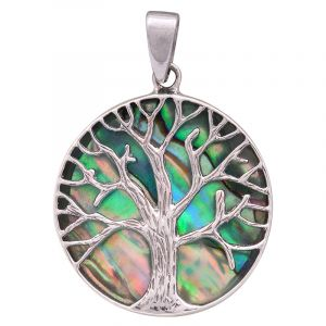 Stříbrný přívěsek paua Ag 5,3 g strom