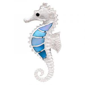 Stříbrný přívěsek perleť Ag 5,0 g mořský koník