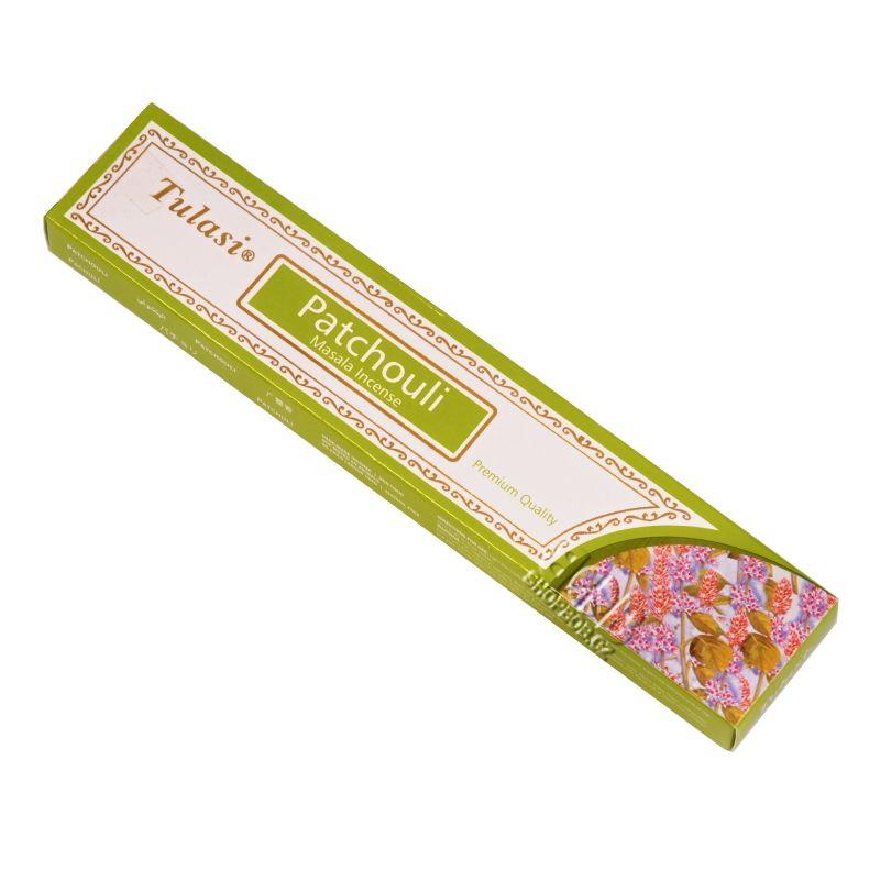 Tulasi Masala Patchouli - Pačuli indické vonné tyčinky 15 g