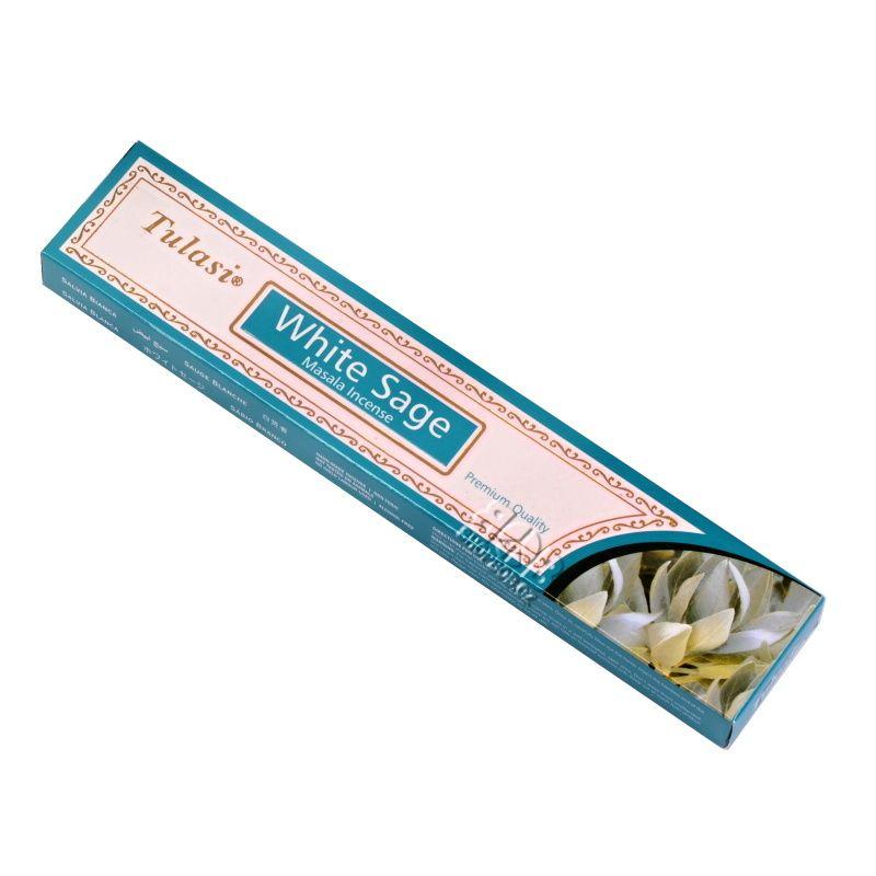 Tulasi Masala White Sage - Bílá šalvěj indické vonné tyčinky 15 g