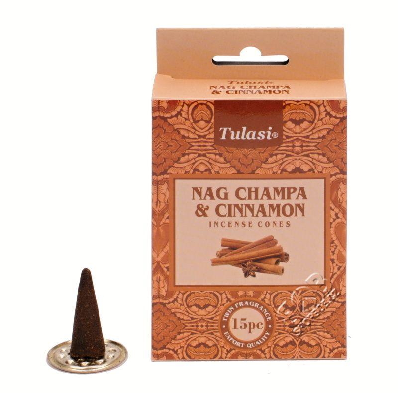 Tulasi Nag Champa Cinnamon indické vonné františky 15 ks | SoNo spol. s r.o.