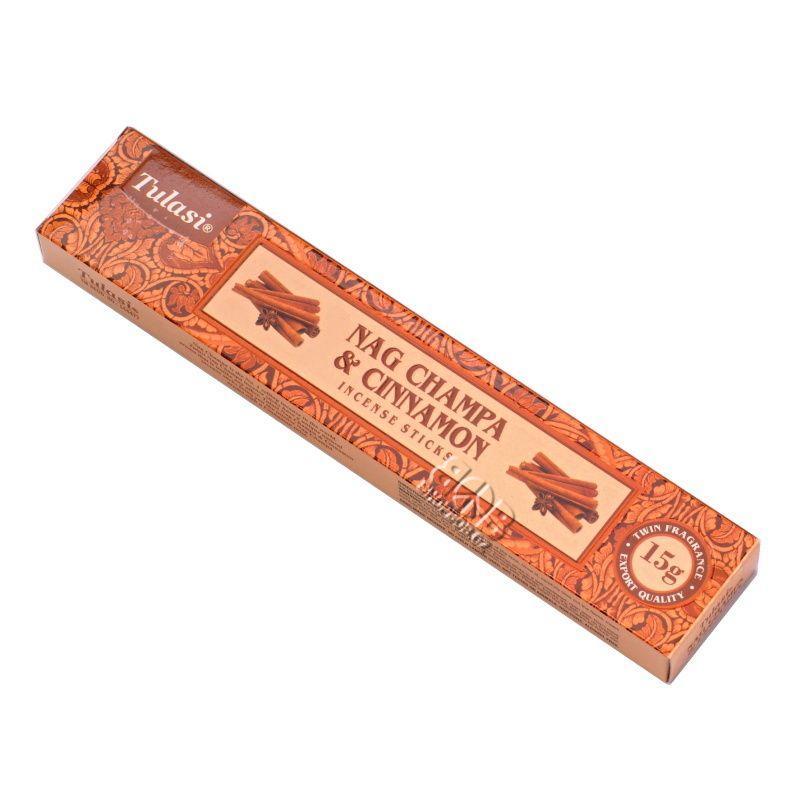 Tulasi Nag Champa Cinnamon indické vonné tyčinky 15 g   SoNo spol. s r.o.