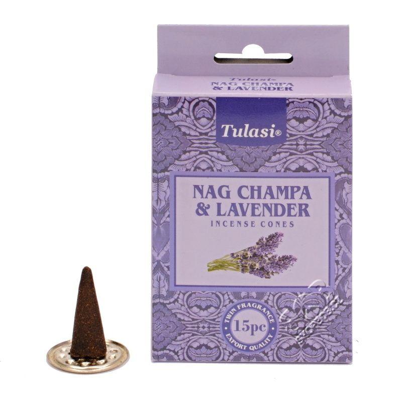 Tulasi Nag Champa Lavender indické vonné františky 15 ks | SoNo spol. s r.o.