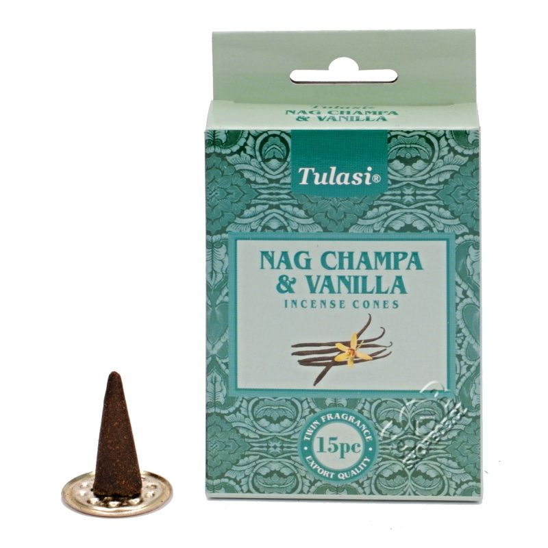 Tulasi Nag Champa Vanilla indické vonné františky 15 ks | SoNo spol. s r.o.