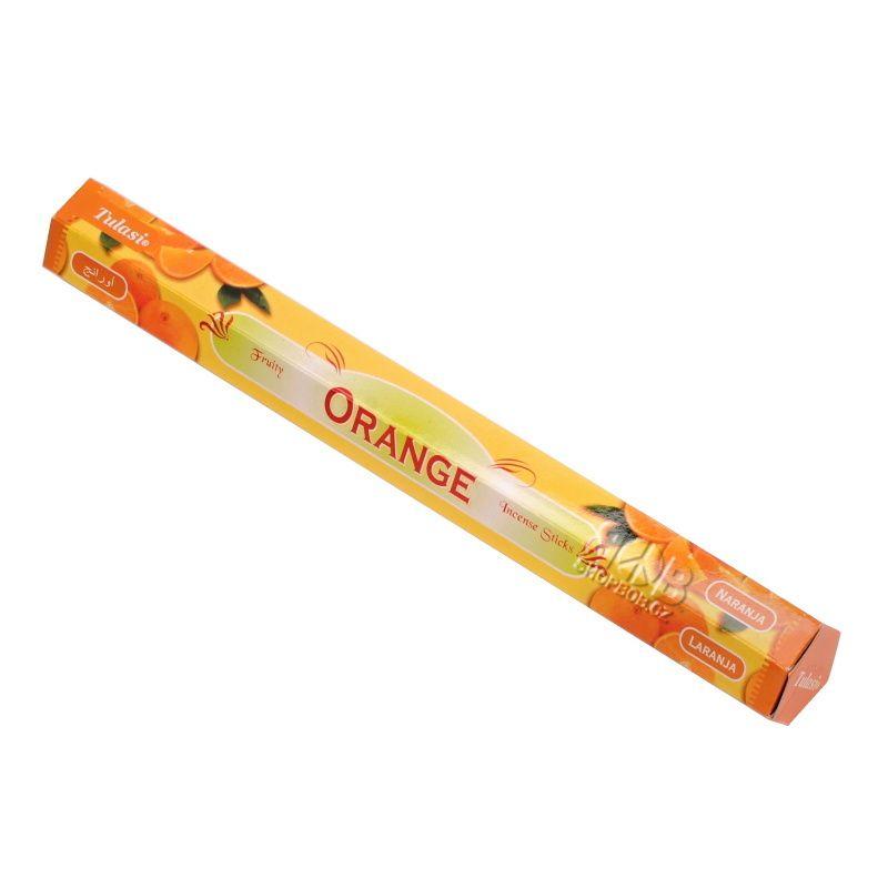 Tulasi Orange - Pomeranč indické vonné tyčinky 20 ks | SoNo spol. s r.o.