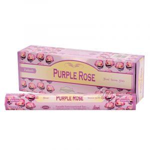 Tulasi Purple rose - Purpurová růže indické vonné tyčinky 20 ks