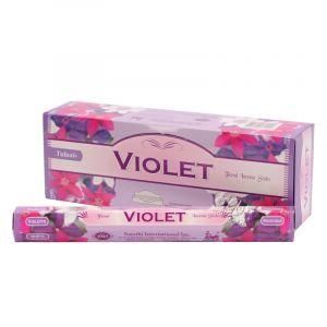 Tulasi Violet - Violka indické vonné tyčinky 20 ks