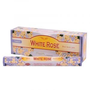 Tulasi White rose - Bílá růže indické vonné tyčinky 20 ks