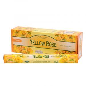 Tulasi Yellow rose - Žlutá růže indické vonné tyčinky 20 ks