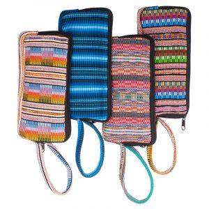 Bavlněná peněženka vyšívaná tkaná 20 x 10 cm s poutkem A