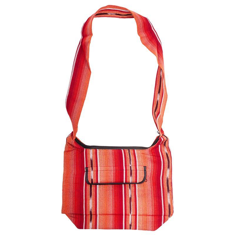 Bavlněná taška přes rameno tkaná barevná 25 x 35 cm A