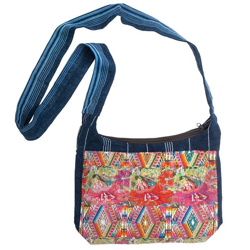 Dámská bavlněná taška přes rameno vyšívaná barevná 23 x 30 cm B   SoNo spol. s r.o.